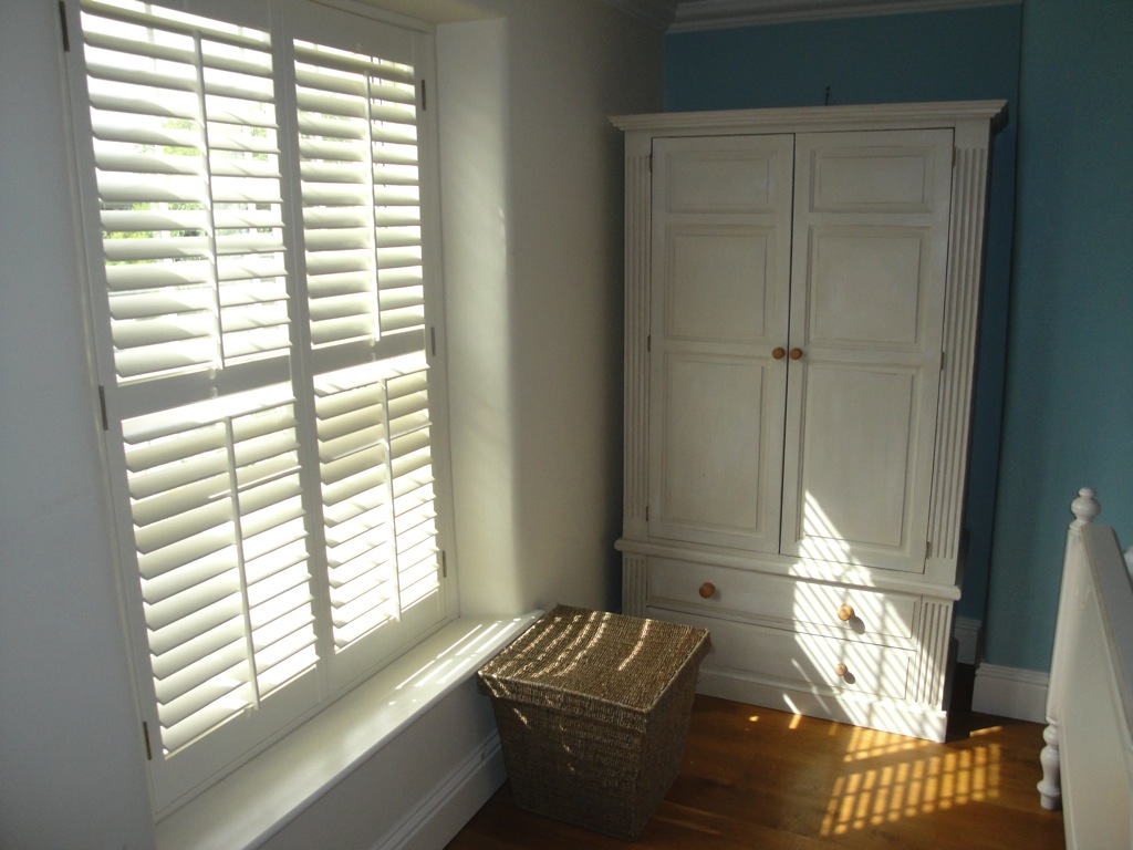 Bedroom shutters west country shutters for Country shutters