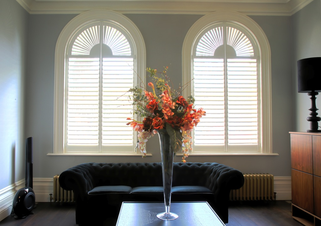Bespoke shaped shutters west country shutters for Country shutters