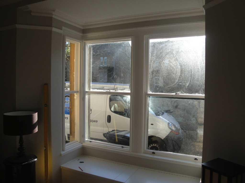 Bay Window Shutters Installation 1