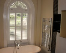 Arched Window shutters in Bristol